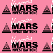 Veronica Mars- Large White on Pink