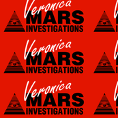 Veronica Mars- Large White on Red