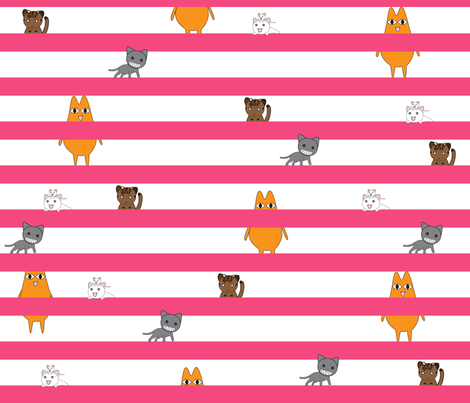 Azumanga Daioh Cats fabric by dame_c on Spoonflower - custom fabric