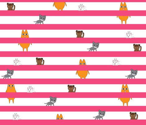 Azumanga Daioh Cats fabric by dame_c on Spoonflower - custom fabric