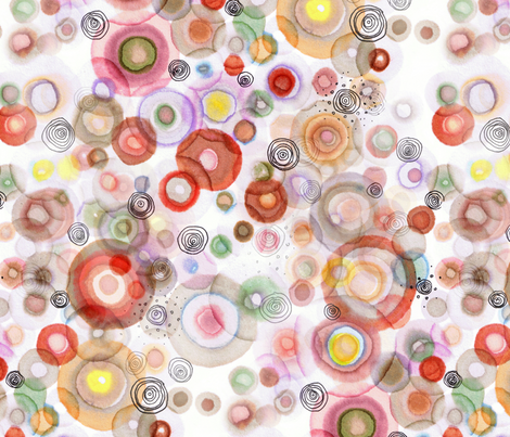 orbits of joy fabric by nerdlypainter on Spoonflower - custom fabric