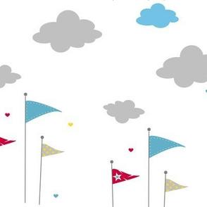 Flags & Clouds Love! - Sweet Birds of Summer - Summer Party - © PinkSodaPop 4ComputerHeaven.com