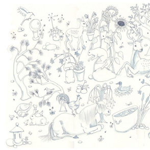 Animal and Garden Toile