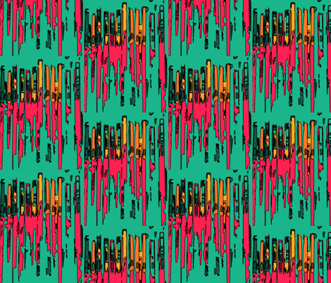 Hardware Tropical fabric by relative_of_otis on Spoonflower - custom fabric