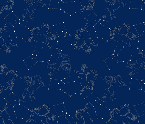pegasus fabric by suziwollman on Spoonflower - custom fabric