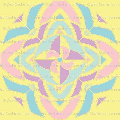 pinwheel kaleidoscope peace horizontal