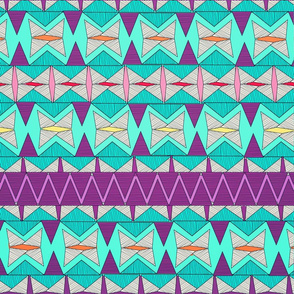 Aztec Tribal Pattern.