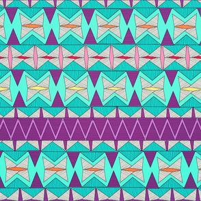Aztec Tribal Pattern.