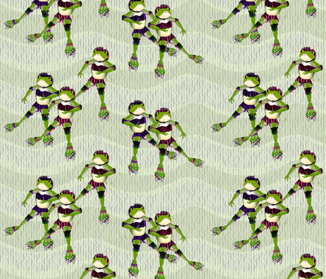 frog sk8 fabric by glimmericks on Spoonflower - custom fabric
