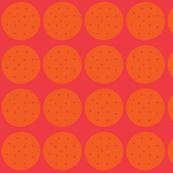 circles in pink and orange