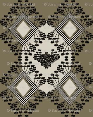 mod wallpaper beige