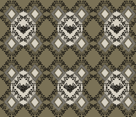 mod wallpaper beige fabric by susiprint on Spoonflower - custom fabric
