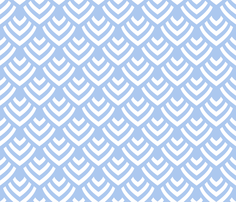 Plumage_Azur_Big fabric by chicca_besso on Spoonflower - custom fabric