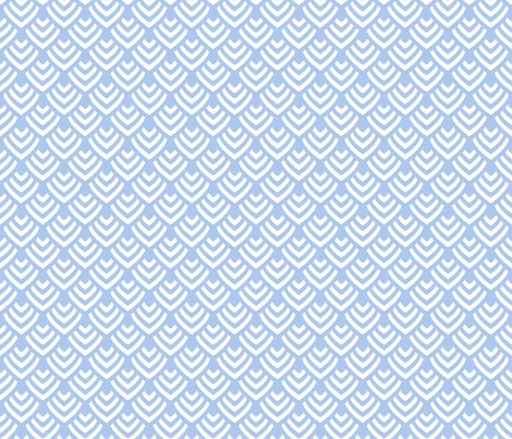 Plumage_Azur_Little fabric by chicca_besso on Spoonflower - custom fabric