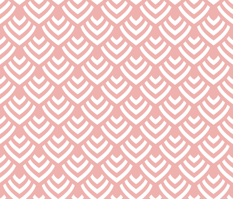 Plumage_Pink_Big fabric by chicca_besso on Spoonflower - custom fabric