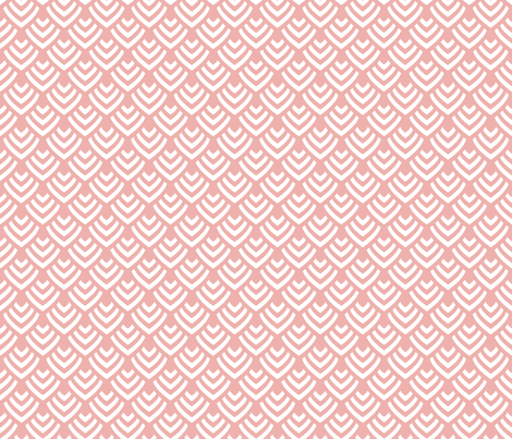 Plumage_Pink_Little fabric by chicca_besso on Spoonflower - custom fabric