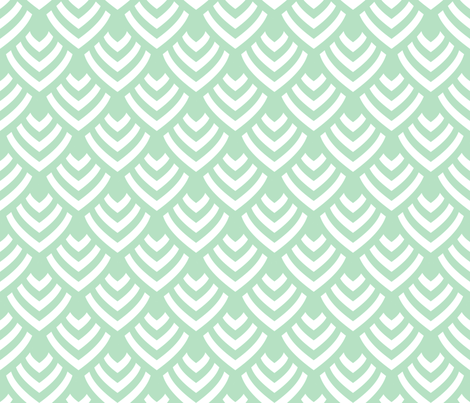Plumage_Green_Big fabric by chicca_besso on Spoonflower - custom fabric