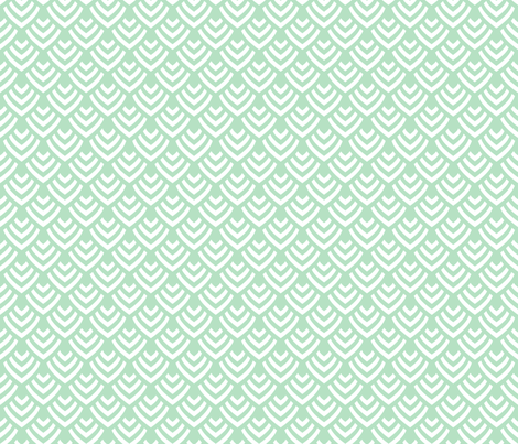 Plumage_Green_Little fabric by chicca_besso on Spoonflower - custom fabric