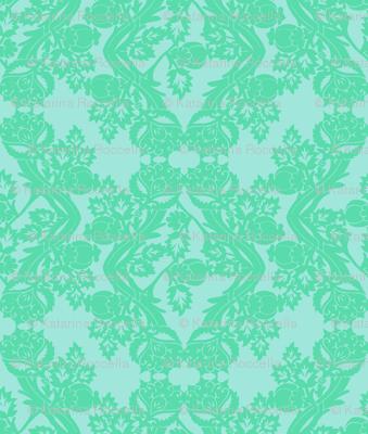 floral damask minty