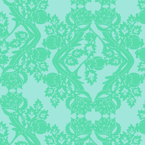 floral damask minty