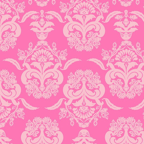 damask dolphin pink