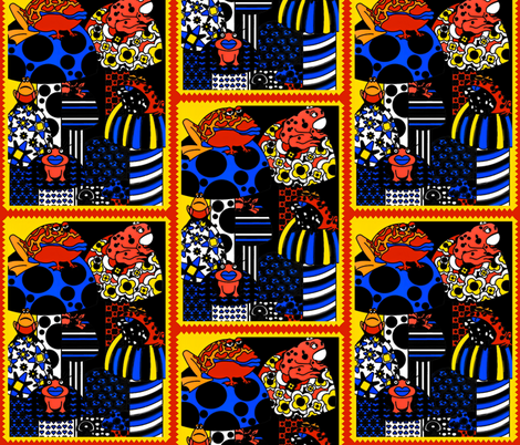 Pop Art Frogs fabric by whimzwhirled on Spoonflower - custom fabric