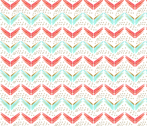 Arrow Chevron in Blues and Pinks fabric by emilysanford on Spoonflower - custom fabric