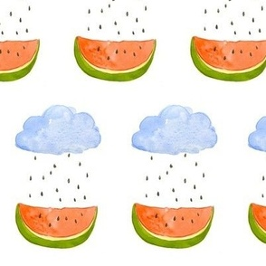 Watermelon Raindrops
