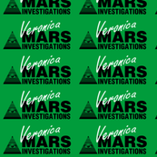 Veronica Mars- Small White on Green