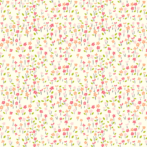 field_o_flowers fabric by stacyiesthsu on Spoonflower - custom fabric