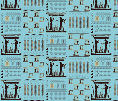 My Blue Arachne fabric by mamselley on Spoonflower - custom fabric
