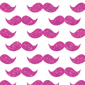 Sparkle Staches, Hot pink