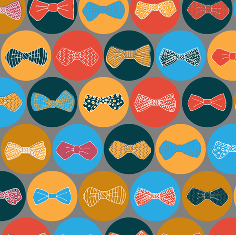Geek Chic Bow Ties fabric by joyfulroots on Spoonflower - custom fabric