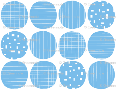 Blue circles (white background)