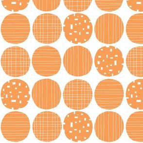 Orange circles (white background)