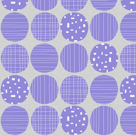 Jacaranda Circles (grey texture) fabric by greennote on Spoonflower - custom fabric