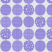 Jacaranda Circles (grey texture)