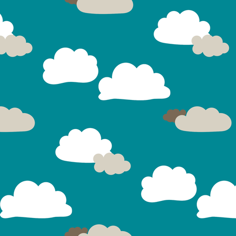 Clouds fabric by mrshervi on Spoonflower - custom fabric