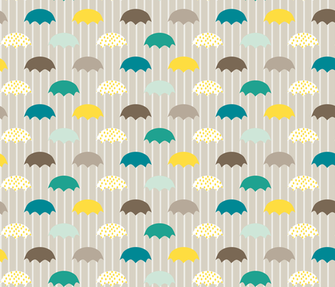 Cloudy Day Umbrellas fabric by mrshervi on Spoonflower - custom fabric