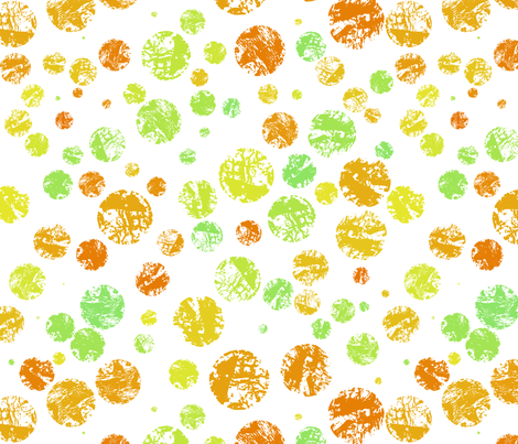 Textured citrus polka dots fabric by greennote on Spoonflower - custom fabric