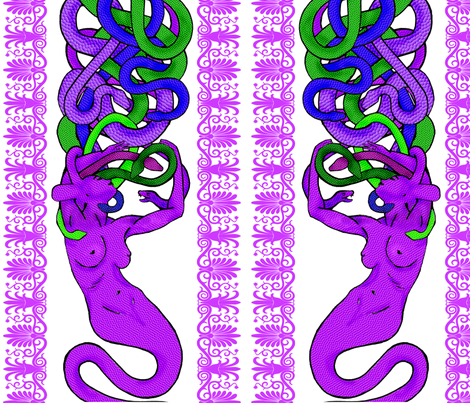 Medusa's Passion II fabric by mysticalarts on Spoonflower - custom fabric