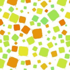 Citrus textured squares