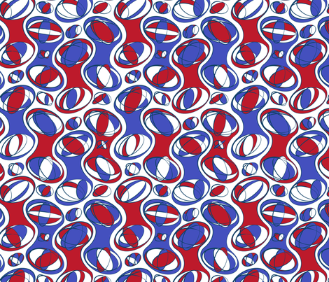 Retro-Geo Red White Blue fabric by jmckinniss on Spoonflower - custom fabric