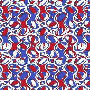 Retro-Geo Red White Blue