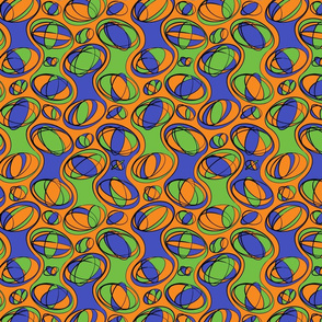 Retro-Geo Blue Green Orange