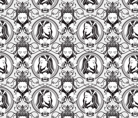 Medusa and Athena fabric by cjldesigns on Spoonflower - custom fabric