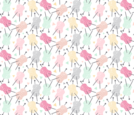 Wool is cool !! fabric by demigoutte on Spoonflower - custom fabric