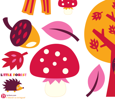 little forest wall decals fabric by bora on Spoonflower - custom fabric