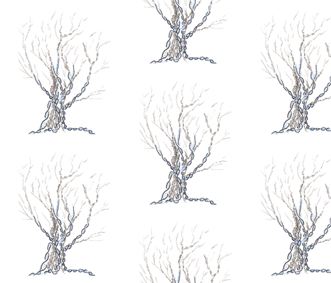 little gene tree fabric by nerdlypainter on Spoonflower - custom fabric