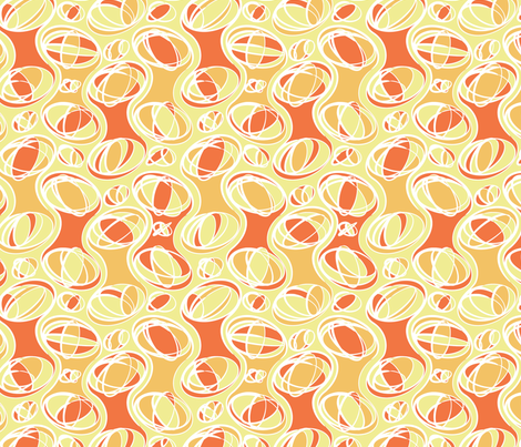 Retro-Geo Tangerine2 fabric by jmckinniss on Spoonflower - custom fabric